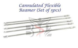 Orthopedic Cannulated Flexible Reamer 8 mm to 12 mm (Lot of 5 pcs) SS