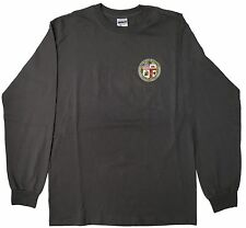 City Of Los Angeles Long Sleeve T Shirt Color Dark Gray 2XL