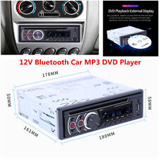 Single 1 Din Car DVD CD MP3 Player In-dash BT FM USB/AUX/SD Audio Radio Stereo