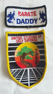 United Studios Self Defense & Karate Daddy Embroidered Patch Set Martial Arts