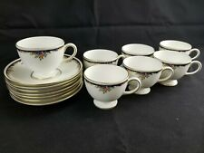 Wedgwood Osborne Cups And Saucers Set Of 7