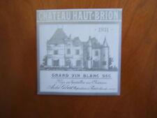 etiquette haut brion 1931 blanc