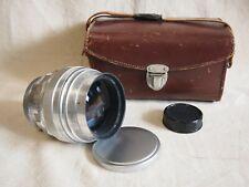 KMZ HELIOS 40 85mm f/1,5 Silver Russian Portrait Lens Zeiss Biotar copy M42