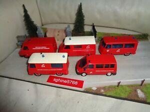 Solido 1/50 - Lot Pompiers Citroën C35 / ¨Peugeot J9 / Renault Trafic - AL