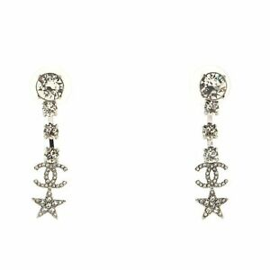 Chanel CC Starfall Drop Earrings Metal with Crystals