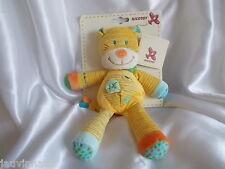 Doudou zèbre, jaune, rayé, Nicotoy, Blankie/Lovey/Newborn toy