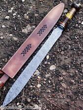 Handmade Damascus Steel Sword Knife  - 30.00 Inches Rose Wood Handle
