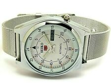 seiko 5 automatic men's steel railway time day/date vintage japan watch run