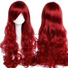 Bright Color Women Cosplay Full Wig Heat Resistant Synthetic Costume Wigs sgfht
