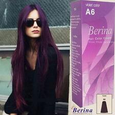 Berina A6 Purple Violet Permanent Hair Dye Color Cream Unisex Fashion Classic ++