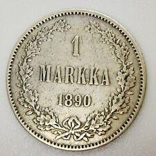 Finland Russia 1 Markka 1890 Silver