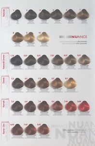 Italienische Haarfarbe mit Ceramid  Nuance 100ml ,250 ml Oxyd komplett paket