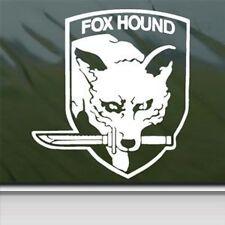 METAL GEAR FOX HOUND white Vinyl Decal Car Truck Window laptop Sticker