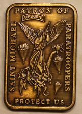 Saint Michael Patron Saint of Paratroopers Army Airborne Challenge Coin