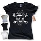camiseta para señoras - Marinero Calavera - Ancla Pirata Capitán S M L XL