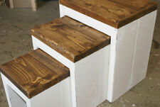Handmade Solid Wood Nested Tables