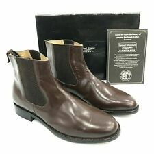 NEW SAMUEL WINDSOR Brown Soft Leather Pull On Chelsea Boots Mens UK 10