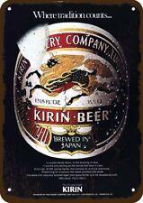 1978 KIRIN JAPANESE BEER Vintage Look Replica Metal Sign - WHEN TRADITION COUNTS