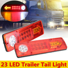 2x 23 LED Tail Stop Light Rear Lamps Indicator 12V Trailer Truck Lorry  //