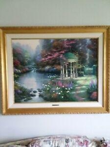 Thomas Kinkade Limited Edition Artist Proof Canvas Garden of Prayer 25.5 x 34