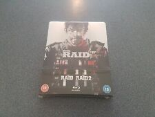The Raid & Raid 2 Collectors Edition Blu-ray Steelbook Movie Brand New Sealed