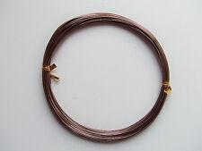 10mt  di filo in alluminio 0,8mm colore marrone