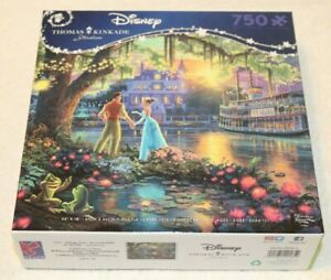 Thomas Kinkade Disney Jigsaw Puzzle, The Princess and the Frog, New Sealed