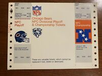 1984 Chicago Bears NFC Playoff & Championship Tickets Walter Payton George Halas