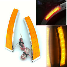 2 x Car Wheel Eyebrow Side Marker Turn Signal Indicator Yellow 18 LED Fog Light