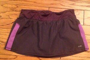 Champion XL Dri Fit Tennis Skirt Shorts Skort Athletic Running Gym Gray Pocket