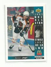Jaromir Jagr 1993 Upper Deck McDonald's All-Stars #McD-17 Hockey Card