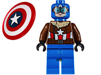 .LEGO Marvel Super Heroes Pilot Captain America Minifigure From Set 76076 D14
