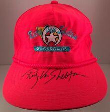 Ricky Van Shelton Backroads Autographed Fluorescent Pink Nylon Rope Front Hat