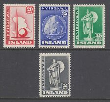 Iceland Sc 213-216 MNH. 1939 New York World's Fair, complete set