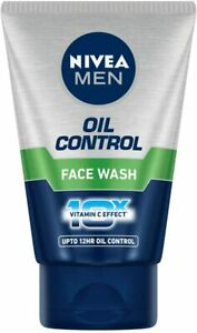 NIVEA Men Face Wash for Oily Skin Oil Control for 12hr 100 g pack of 1