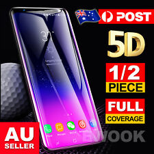 5D For Samsung Galaxy S9 S8 Plus Note 8 Cover Tempered Glass Screen Protector