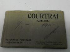 COURTRAI Kortrijk 12 Cartes Postales Detachables 1915-vollständig