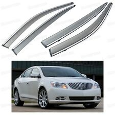 Front & Rear Side Window Visor Deflector Vent Shade for Buick LaCrosse 2010-2015