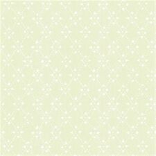 Country Pale Spring Green Diamond Wallpaper-Double roll