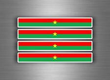 4x sticker decal car stripe motorcycle racing flag bike moto tuning burkina faso