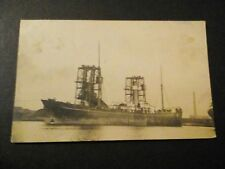 REAL PHOTOGRAPHIC POSTCARD OF A STEAM SHIP. POSTMARKED ROTTERDAM. 1910