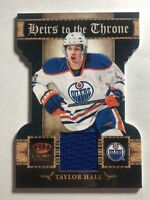 TAYLOR HALL - 2010-11 CROWN ROYALE ROOKIE DIE-CUT HEIRS TO THE THRONE JERSEY #6