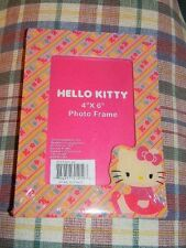 """Hello Kitty 4"""" x 6"""" photo frame- NEW- Sanrio -sealed- HK design all around front"""