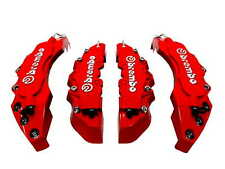 NEW 3D STYLE RED BIG & MEDIUM CAR DISC BRAKE CALIPER COVERS FRONT & REAR 4PCS
