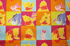 Fabric Winnie the Pooh Bear Piglet Cotton Fat Quarter Quilting Coloured Material