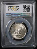 1954 Australia Silver Florin PCGS MS64 Royal Visit  Coin Stunning Lustre
