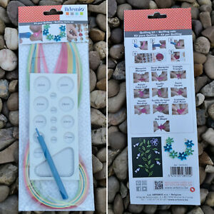 Quilling Tools Starter Kit / Small / Paper Template Board Slotted Tool / Artemio
