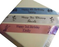 1st 2nd 3rd 4th 5th Birthday Personalised Ribbon birthday cake etc 45mm width