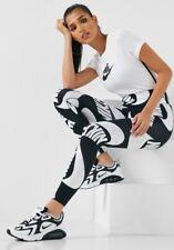 SMALL WOMEN'S Nike Sportswear  print Black white Leggings running CJ2059-010