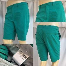 Uni Qlo Golf Shorts Sz 33 Green Poly Flat Front 35 Actual Mint YGI 5901